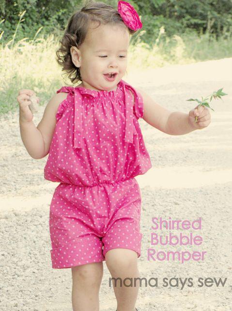 mama says sew: Shirred Bubble Romper | Vestidos de niña | Pinterest ...