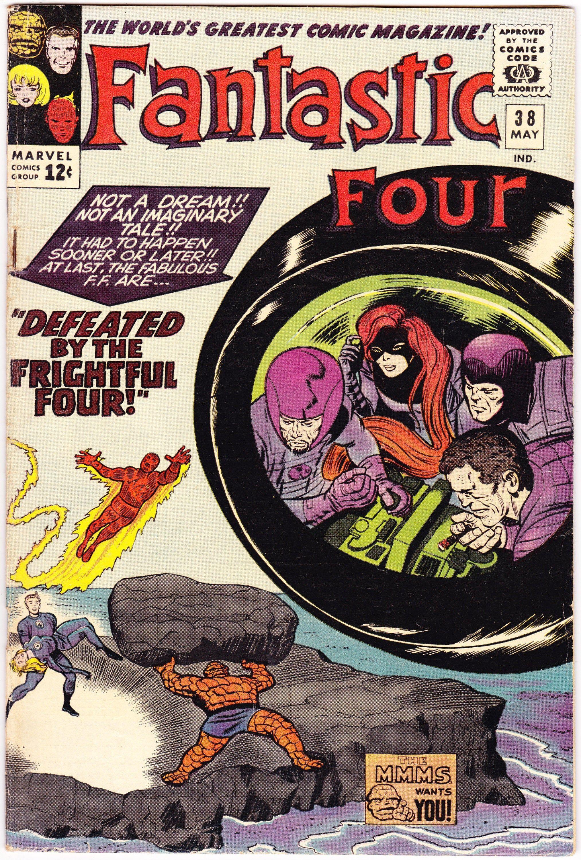 Fantastic Four Vol 1, 38 Comic, Silver Age Book. 1965
