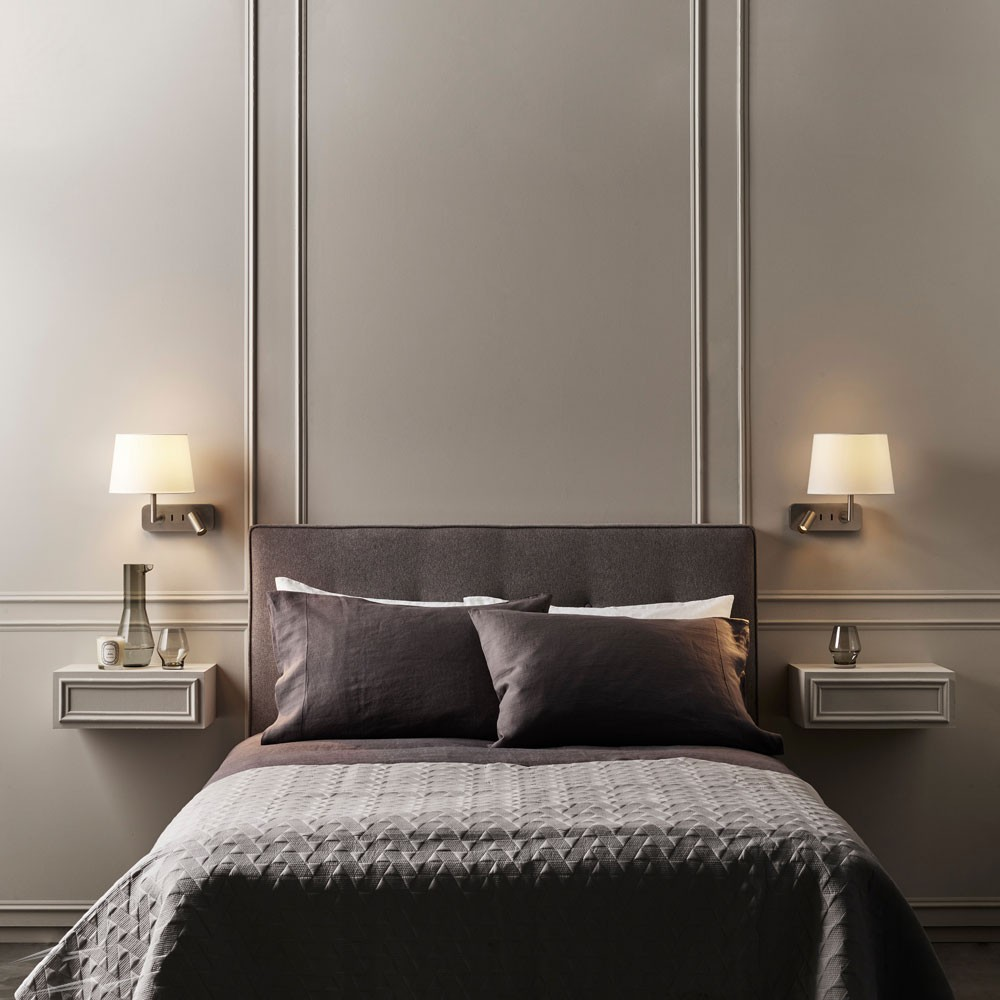 Side by Side Bronze Adjustable Wall Lamp Switched 12W LED