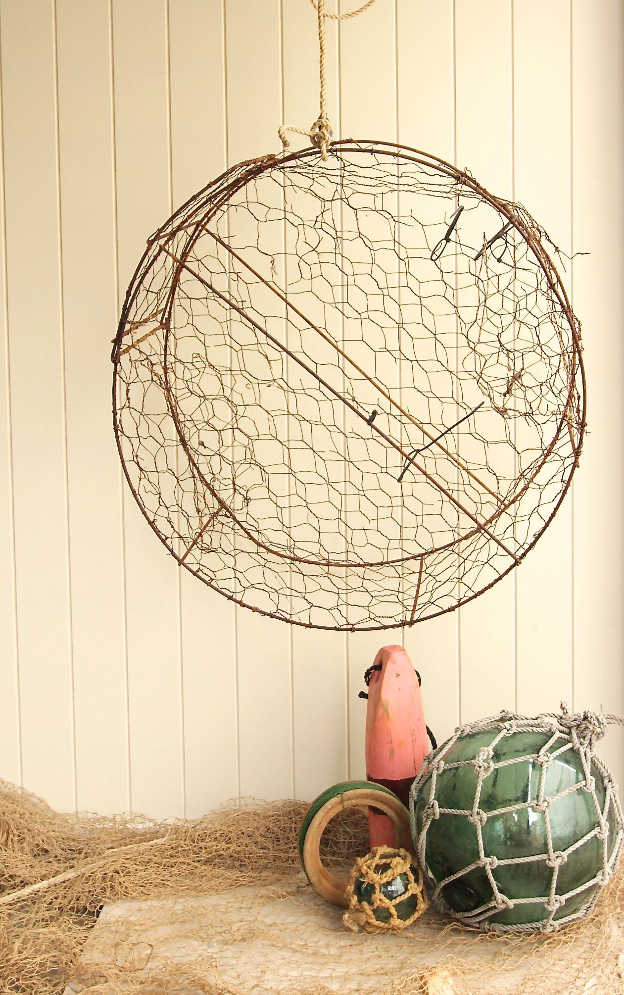 old crab pot perfect for the garden lobster pot buoy old reel