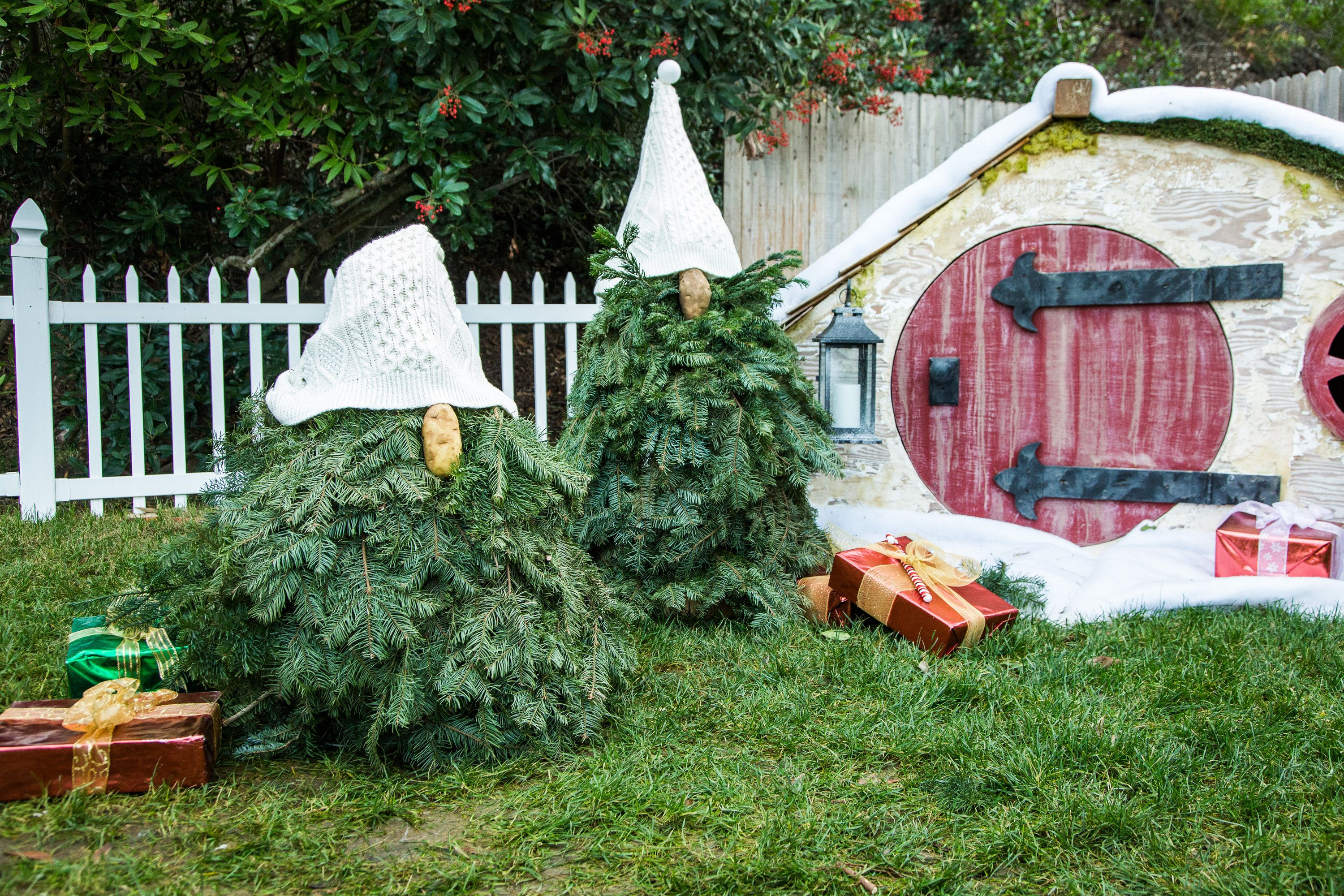 Turn your Christmas Tree into a gnome with
