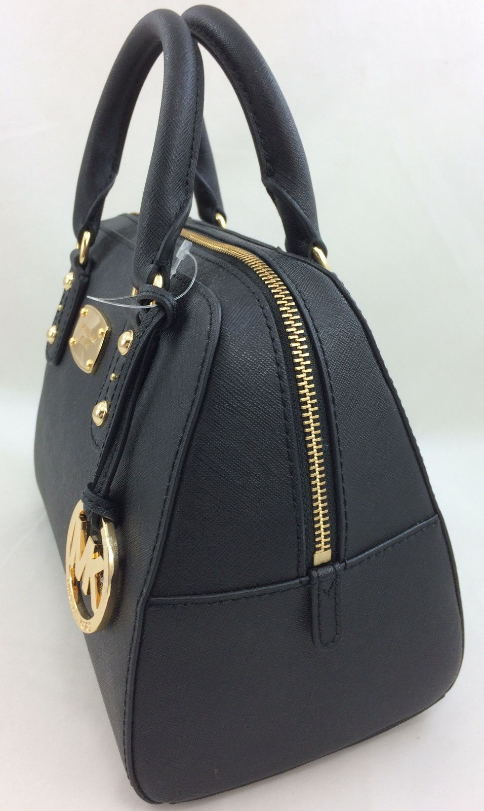 a019e348a16f ... where can i buy new authentic michael kors mk saffiano leather small  satchel handbag purse black