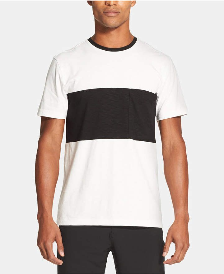 5c1c46d44bf6b8 DKNY Men Colorblocked Supima Cotton Pocket T-Shirt in 2019 ...