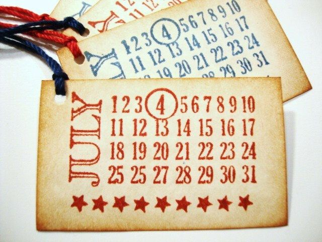 July 4th Tags Independence Day Patriotic Americana by PapergirlStudios on Etsy https://www.etsy.com/listing/153290540/july-4th-tags-independence-day-patriotic
