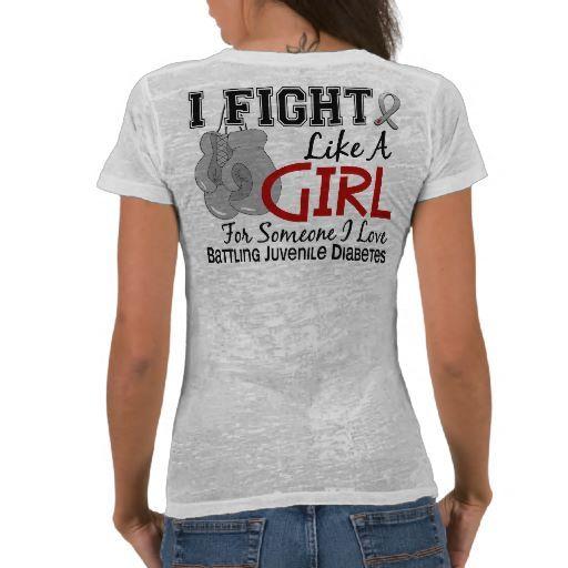 8f752a9a Fight Like A Girl Juvenile Diabetes Shirts ♥♥♥ | TYPE 1 DIABETES ...