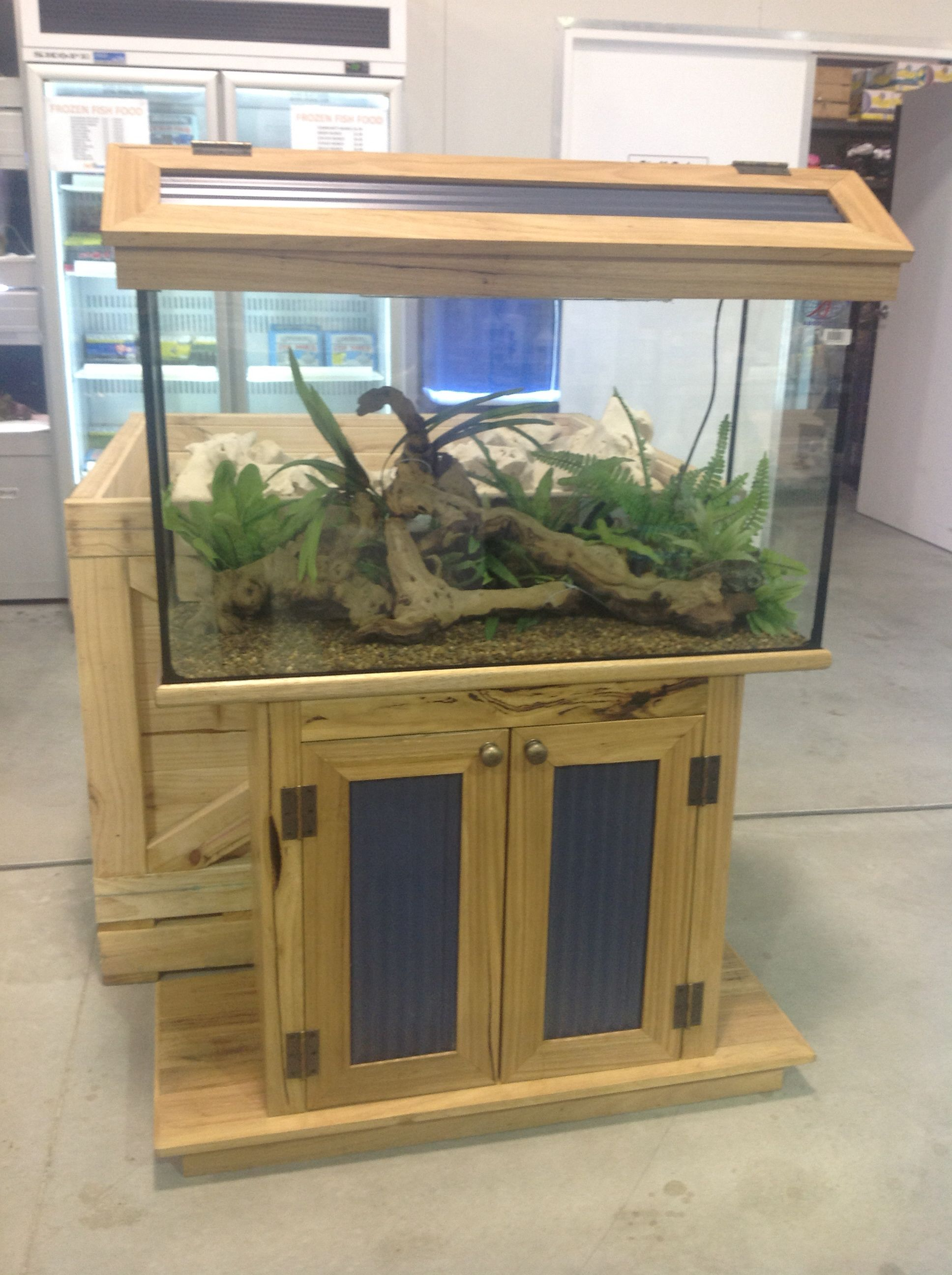 Solid Wood Custom Made Recycled Hardwood Fish Tank Stand By Rhind House Of Timber