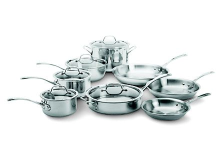 13 Pc Stainless Steel Induction Capable Cookware Set At Calphalon