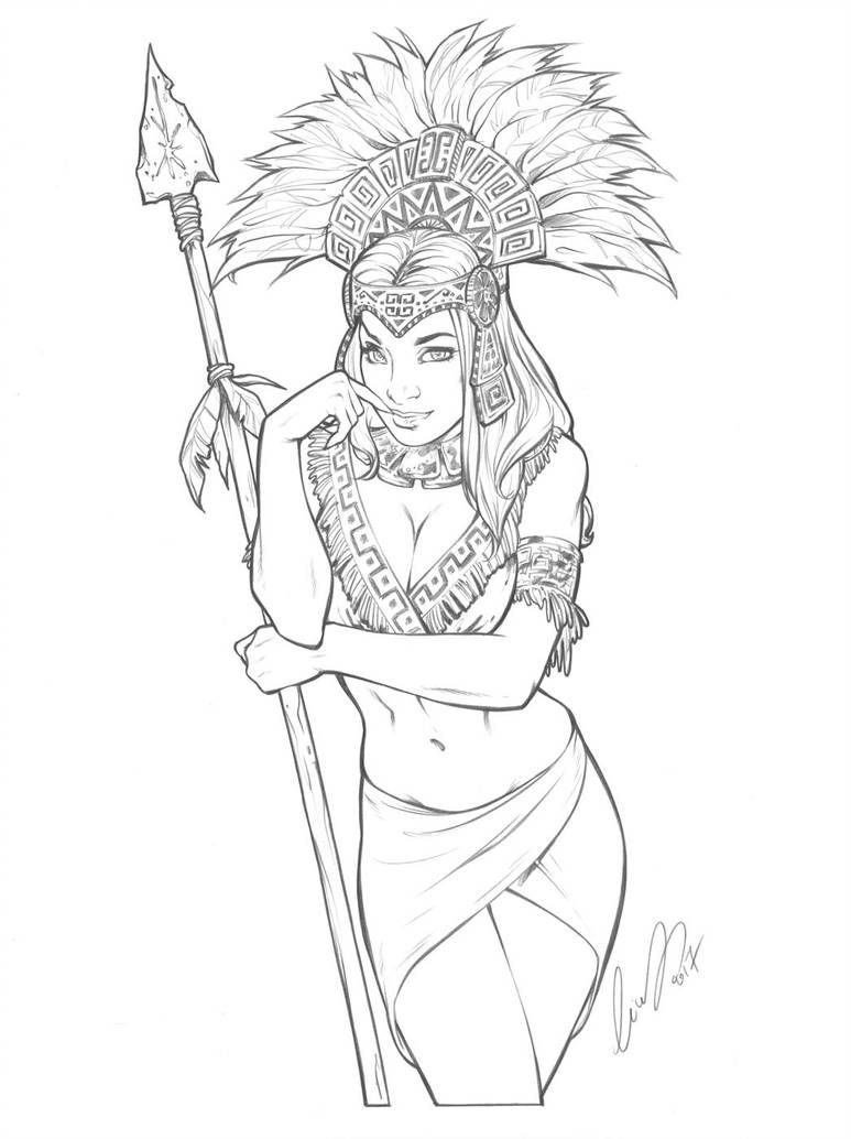 Aztec Princess by Elias-Chatzoudis #aztec