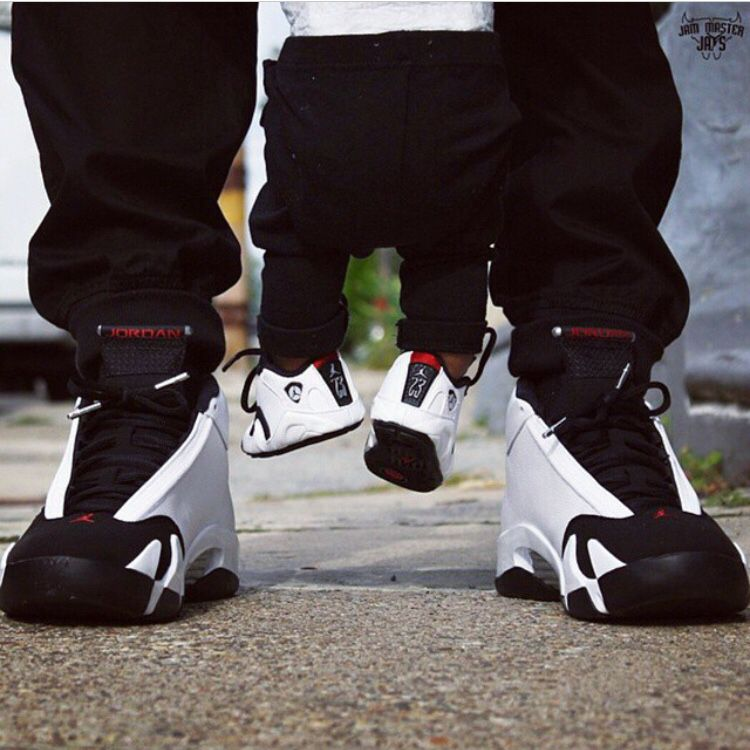 1523155f36e3cd Like father like son Baby Jordan Shoes