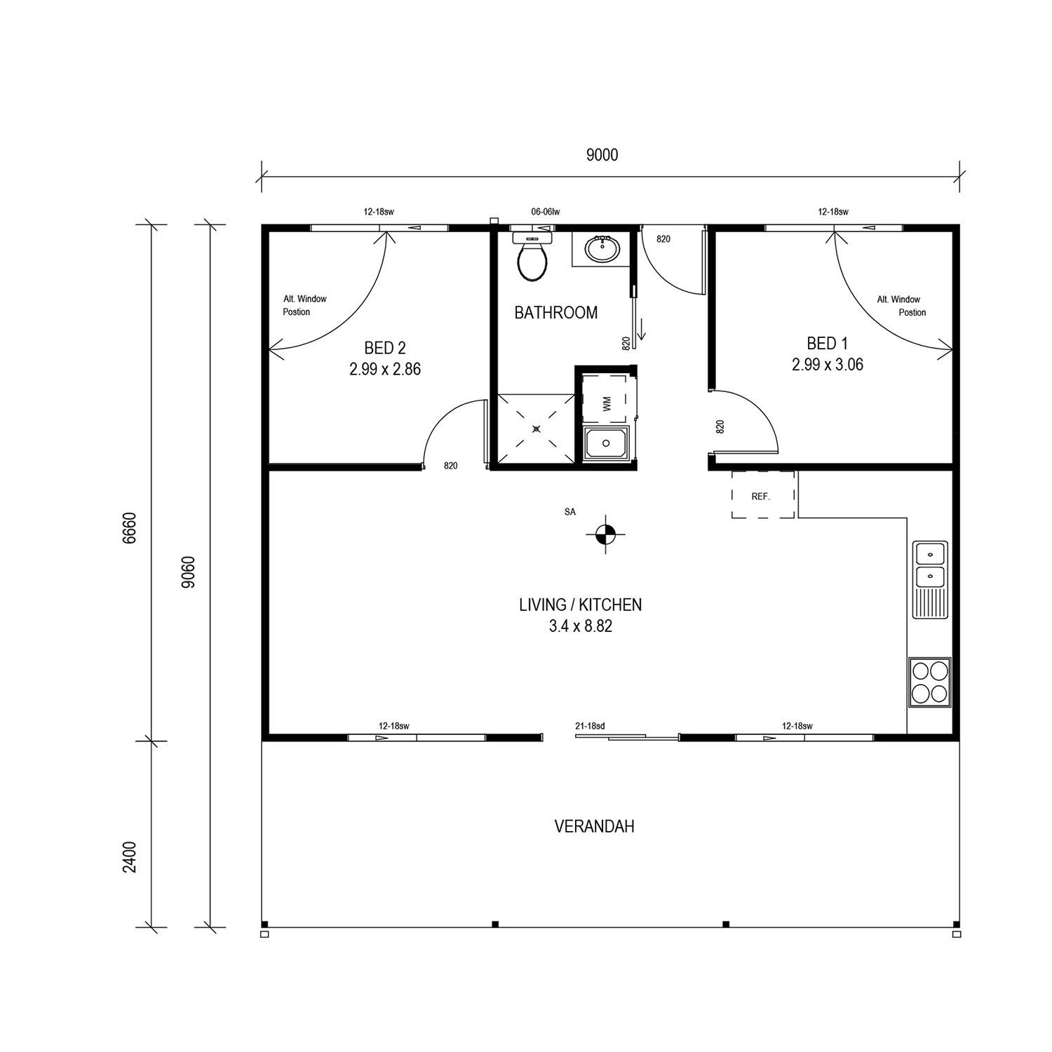 Weekender 60 Floor Plan Shed Floor Plans Granny Flat Livable Sheds