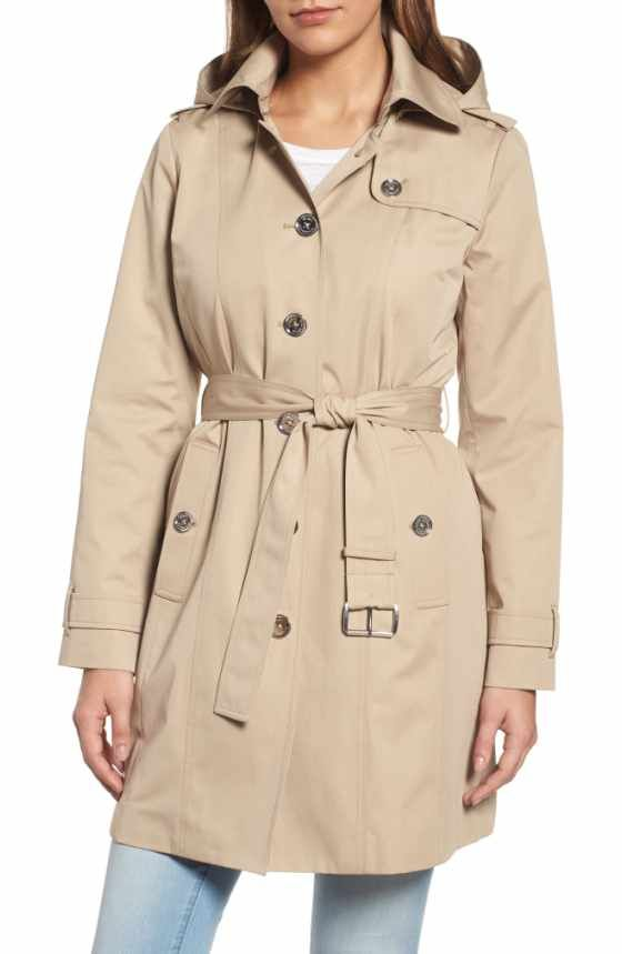 7b51d41c048 Free shipping and returns on MICHAEL Michael Kors Single Breasted Raincoat (Plus  Size) at Nordstrom.com. Timeless trench styling defines a single-breasted  ...
