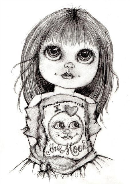 Pop Art Minis | Big eyes art, Art, Grayscale coloring