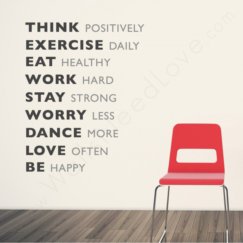 Motivational Wall Quote and a chair