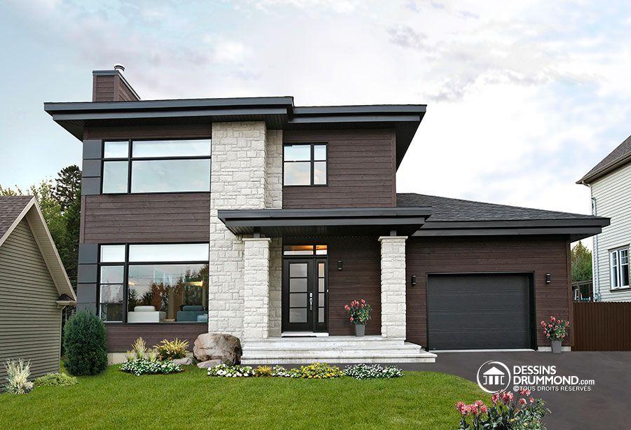Photos du plan de Maison unifamiliale W3713-V1 - Vue avant #1