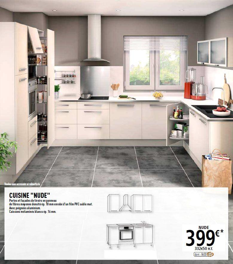Cuisine Brico Dépôt Nude CUISINE Pinterest - Facade de meuble de cuisine brico depot pour idees de deco de cuisine