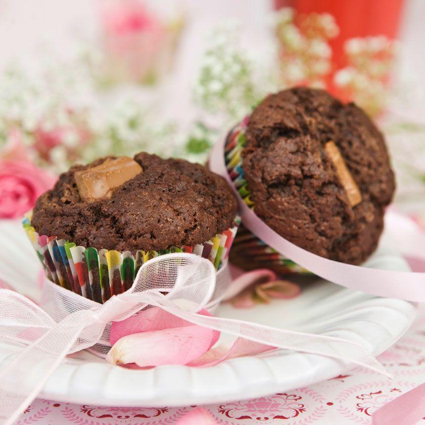 muffins med mjölkchoklad