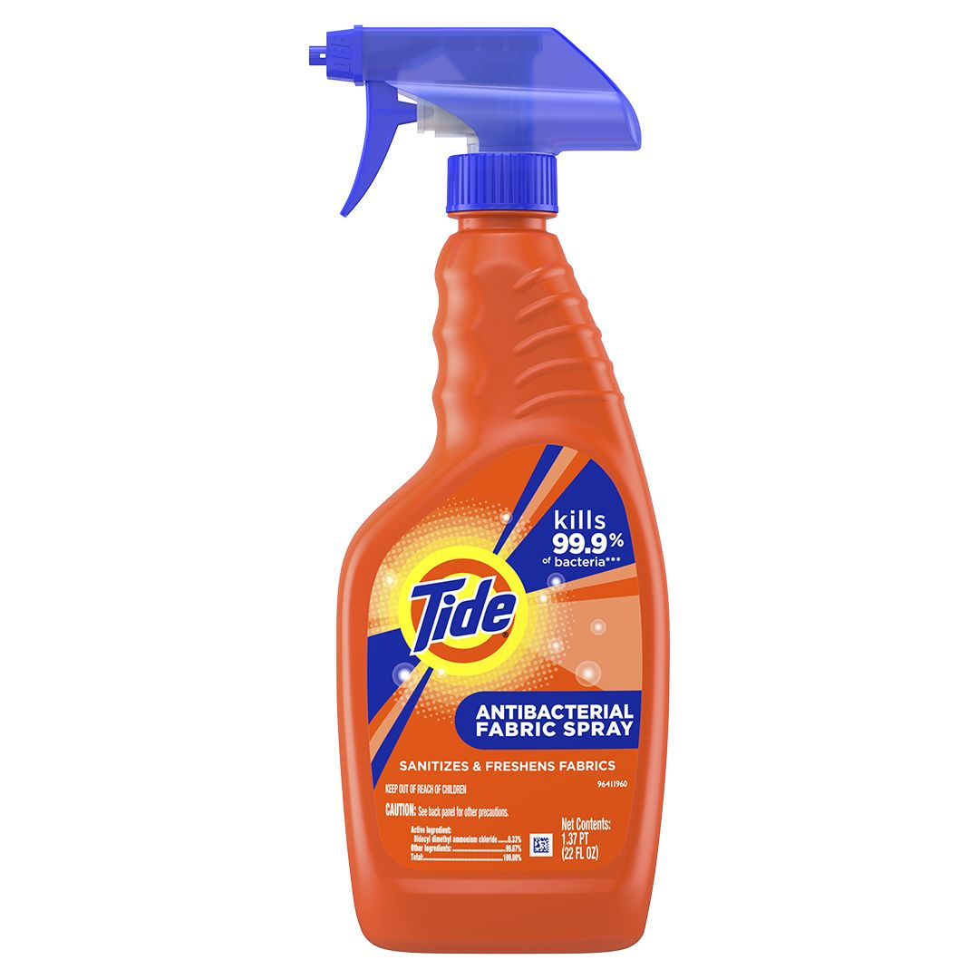Tide S New Antibacterial Fabric Spray Is Your Cold Season Hero Fabric Spray Cleaning Hacks Clean Dishwasher