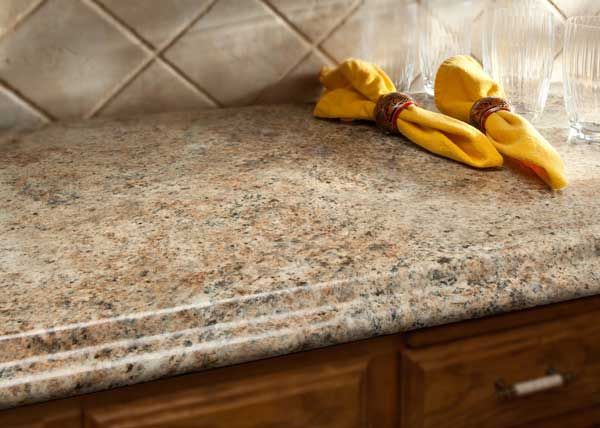 Our countertops are built according to your specifications, with careful  craftmanship and attention to detail. Wilsonart Granite-Look-a-Like Laminate
