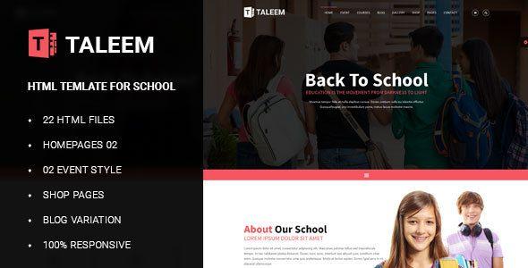 Download Free Taleem - School Education HTML5 Template # child ...