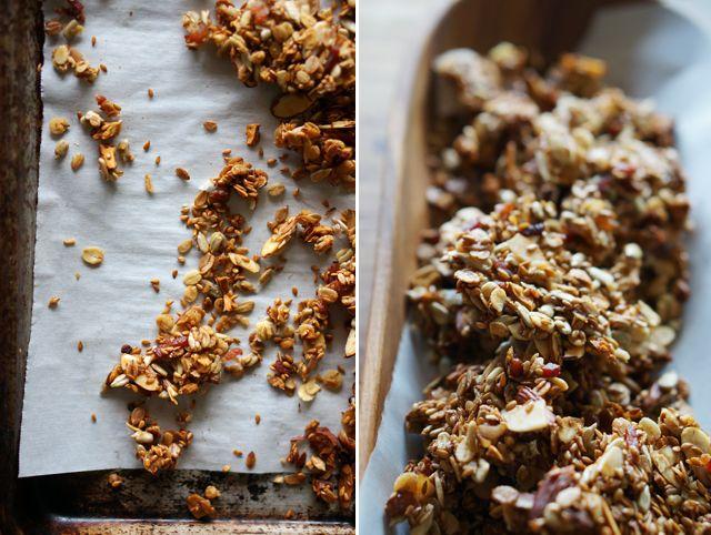 Savory bacon granola (definitely use coconut oil instead of veggie)