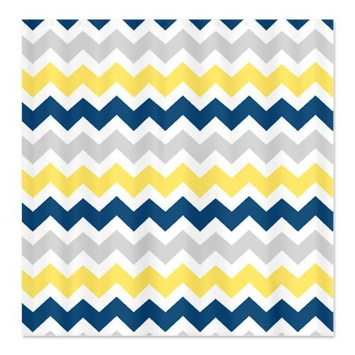 navy blue and yellow shower curtain. CafePress Yellow Blue Grey Chevron Stripes Shower Curtain  Standard White http