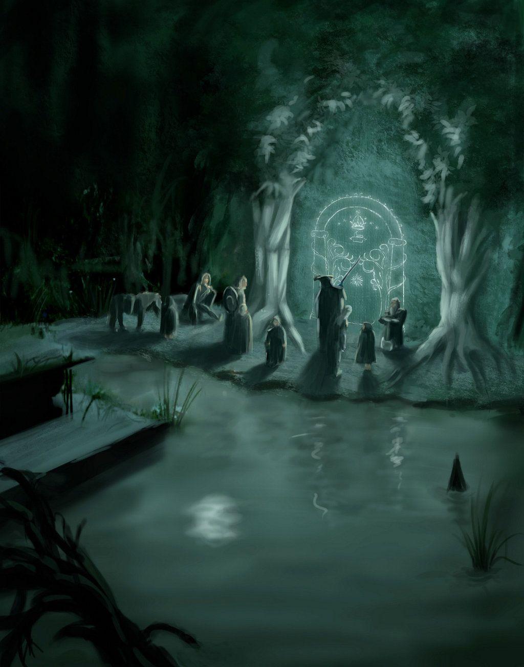 Moria\u0027s door & Moria\u0027s door by yinetyang | The Hobbit-Lord of the Rings | Pinterest ...