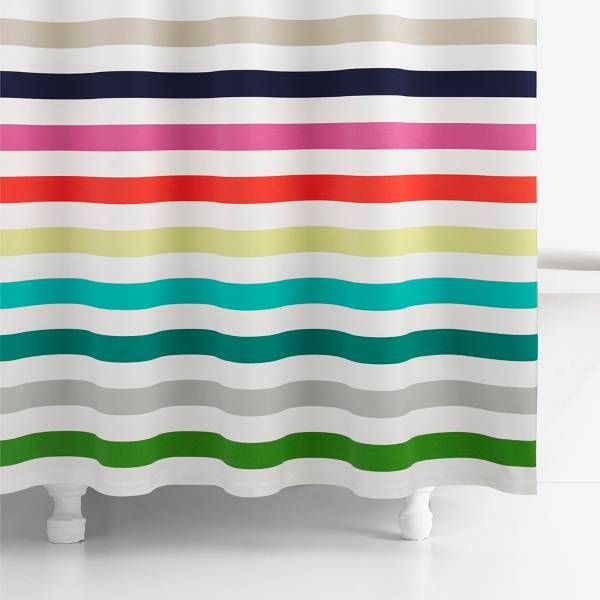 Product Image For Kate Spade New York Candy Stripe Shower Curtain 2 Out Of 2