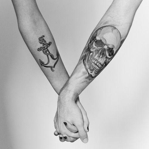Kärlek symbol tatueringar för par
