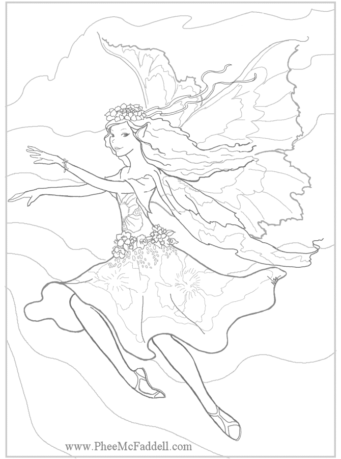 Here are some Free Fairy Fantasy Mermaid Coloring Pages by Phee ...