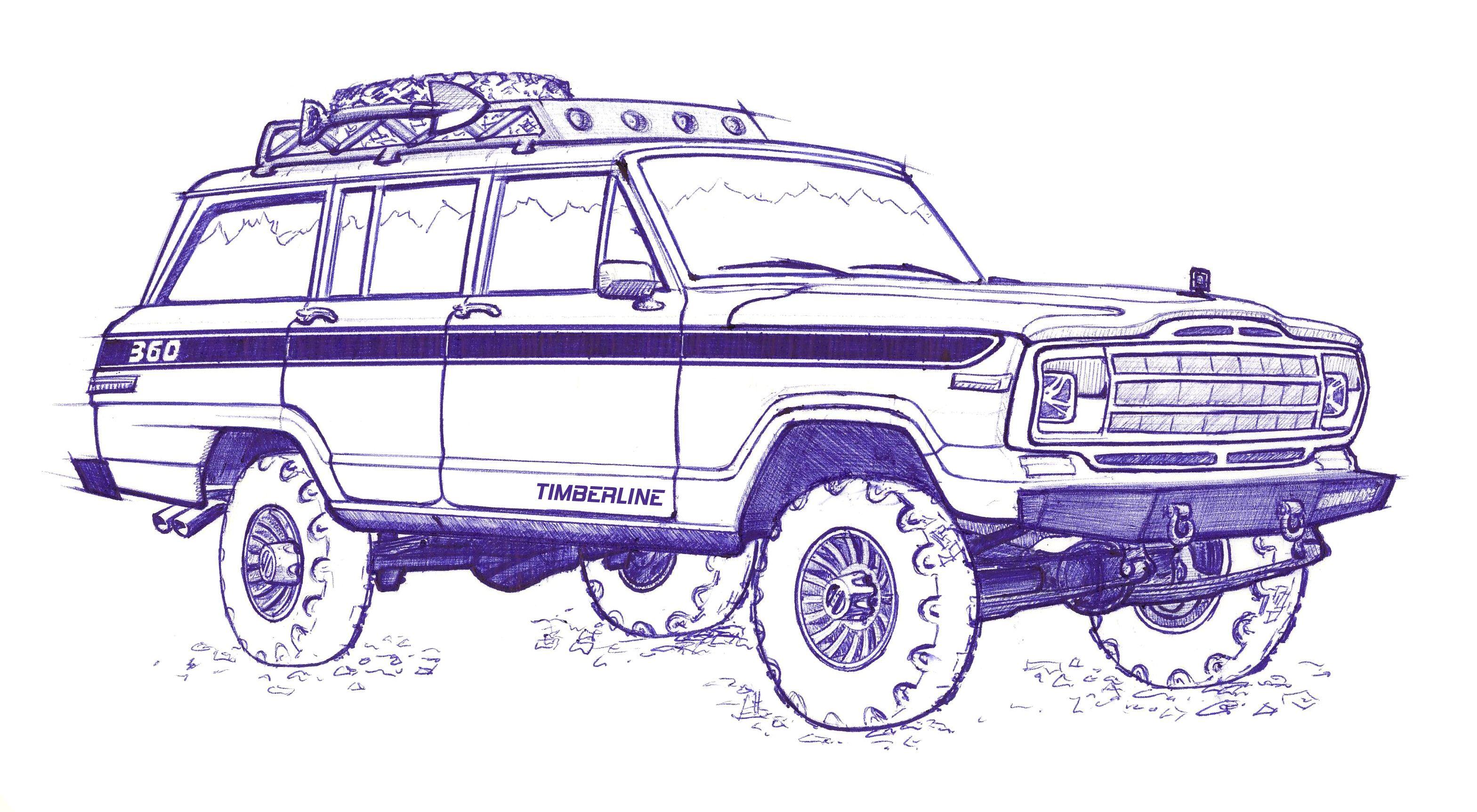 Jeep Grand Wagoneer Sketch | 车 | Pinterest