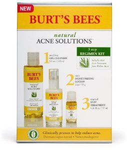 Burt's Bees Natural Acne Solutions 3 Step Regimen Kit((use it and Lve it, especially the face wash and blemish stix, $9.99 each at Most stores))