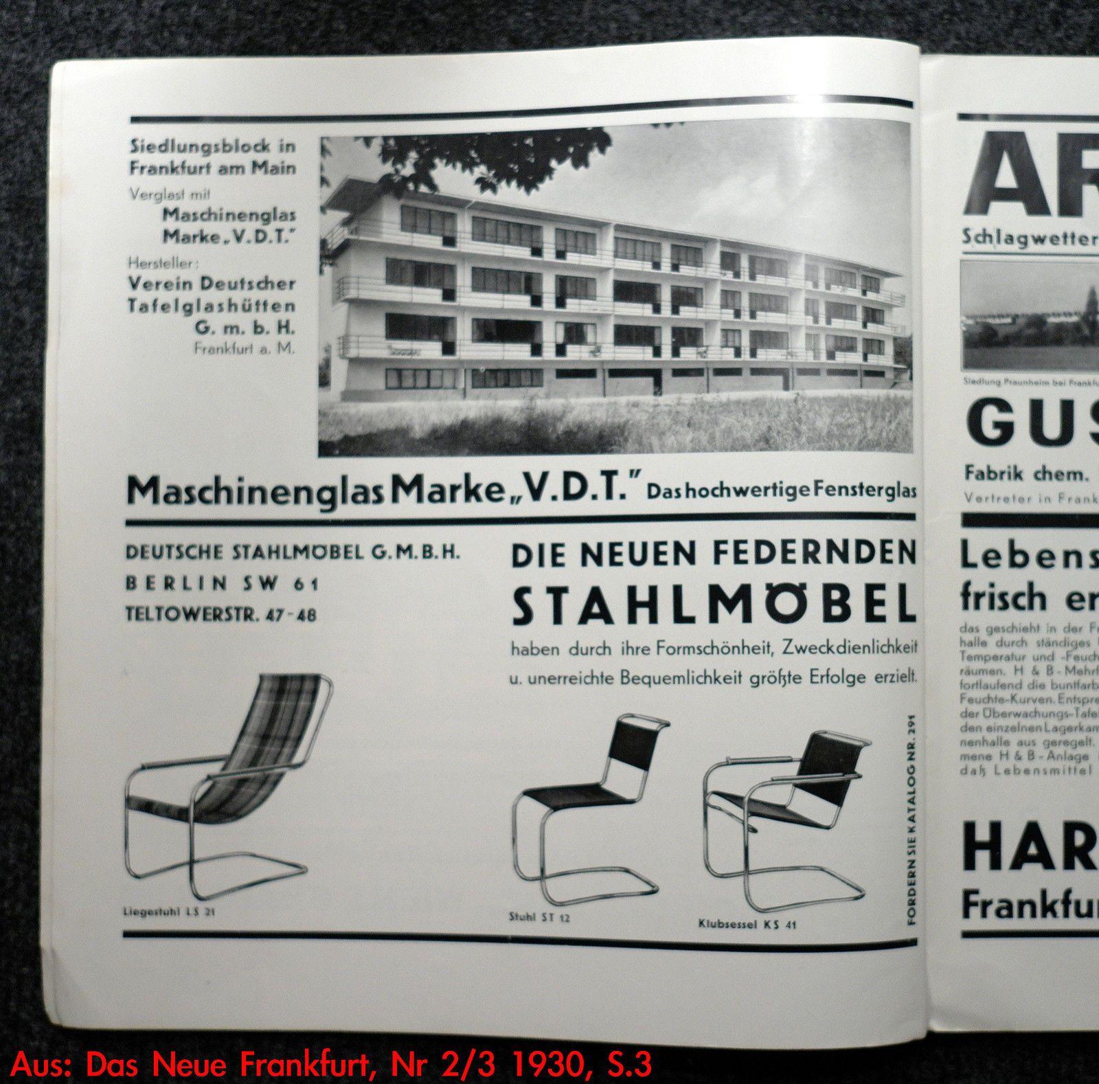 1 2 anton lorenz ks41 desta freischwinger sessel thonet bauhaus ebay good informations. Black Bedroom Furniture Sets. Home Design Ideas