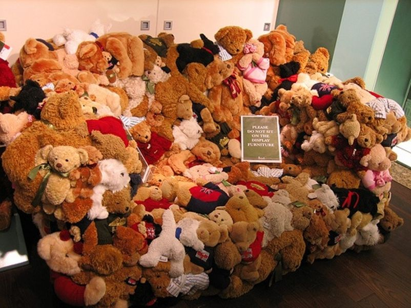 Teddy Bear Sofa For Sale At Harrods Dept. In London, Eng. Design Ideas