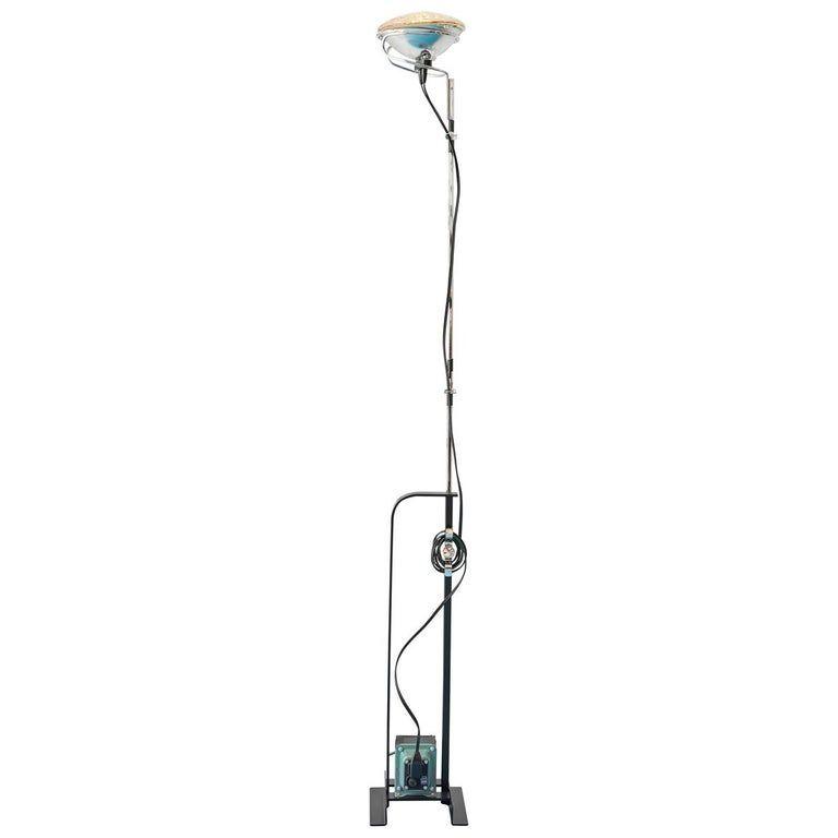 Achille Pier Giacomo Castiglioni Floor Lamp Toio Flos Italian Steel Floor Lamp Indirect Lighting Flooring