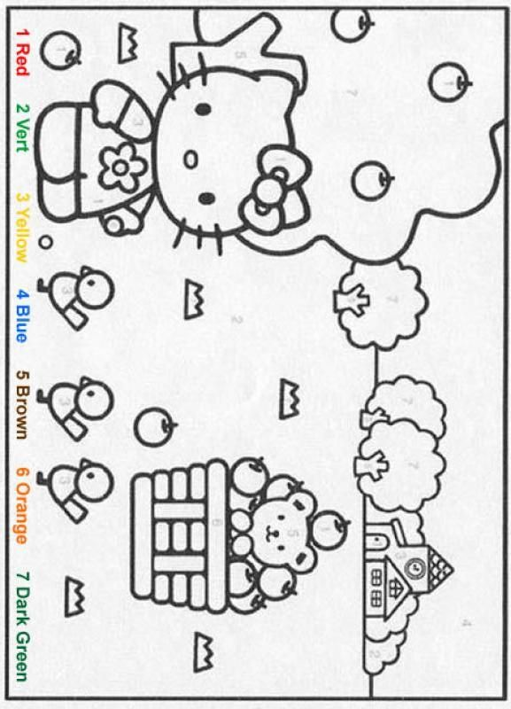 Color By Number Hellokitty Color By Number Characters Color By Number Coloring Pages Hello Kitty Coloring Coloring Pages Hello Kitty