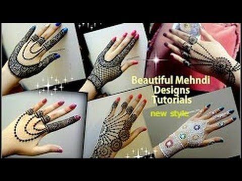 Beautiful Mehndi Hairstyles : Simple henna mehndi designs for hand step by diwali tutorial