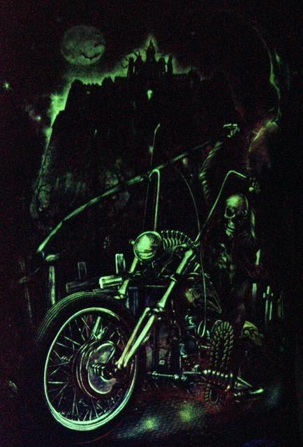 Ghost Rider Reaper - Glow in the Dark Radium Neon UV High definition