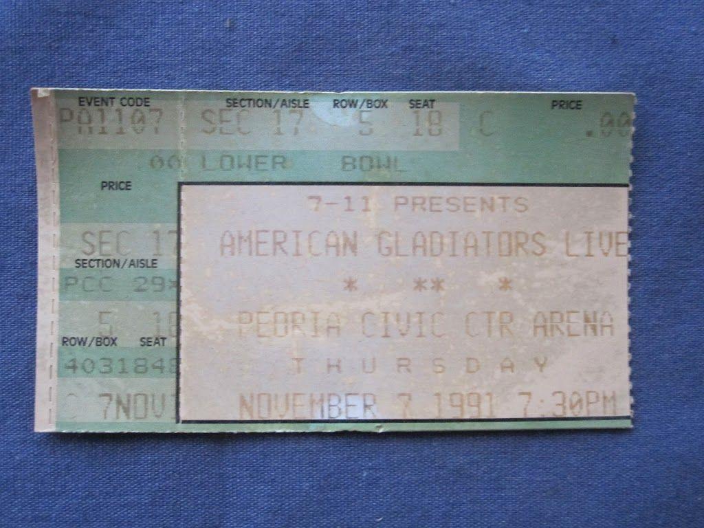 American Gladiators Live, Peoria Civic Center Arena, 11/7