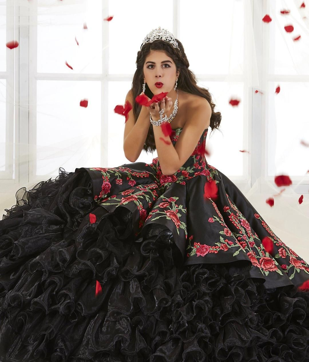 Rose Charro Quinceanera Dress By House Of Wu 26892 In 2021 Pretty Quinceanera Dresses Red Quinceanera Dresses Charro Quinceanera Dresses [ 1265 x 1080 Pixel ]