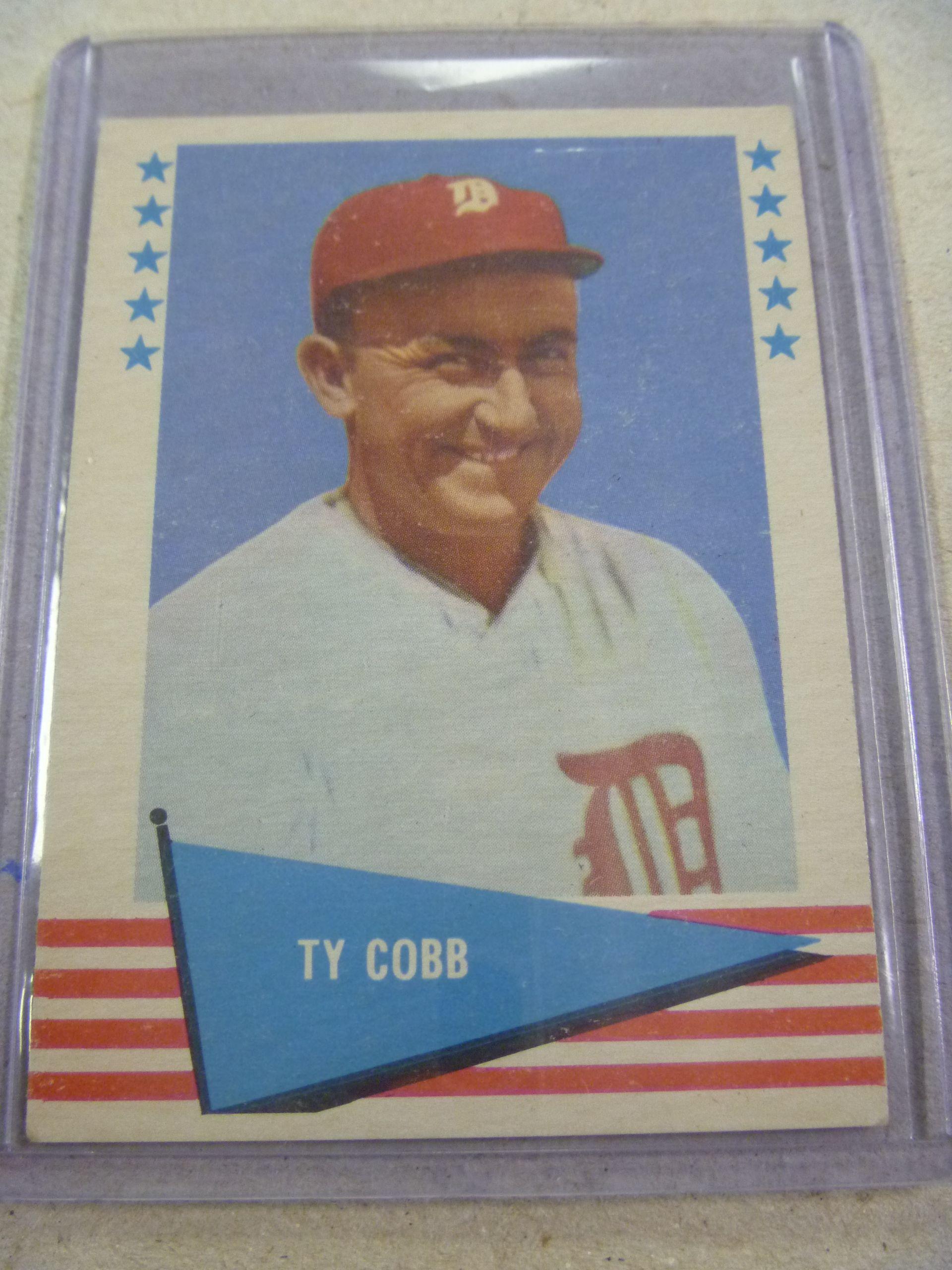 1961 fleer ty cobb 14 baseball trading card great