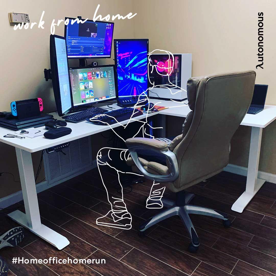 Smartdesk Corner The L Shaped Standing Desk With Twice The Space In 2021 Computer Desk Setup Modern Home Office Desk Desk Setup