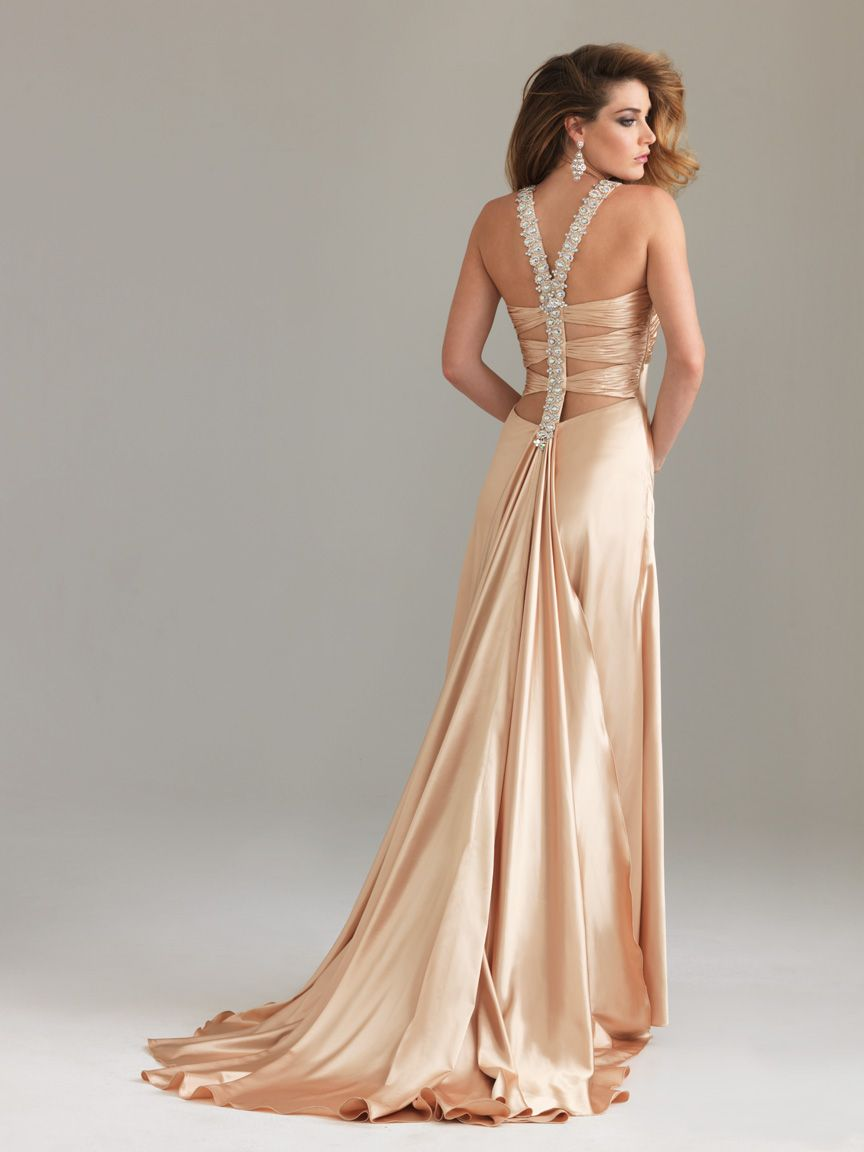 Gold Silk Evening Dress Dresses Prom Dresses Dresses Prom