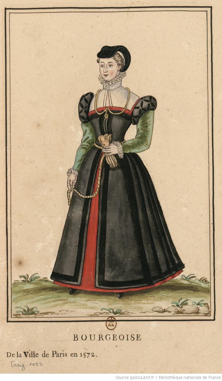 Bourgeoise de Paris Mode élisabéthaine, Mode renaissance