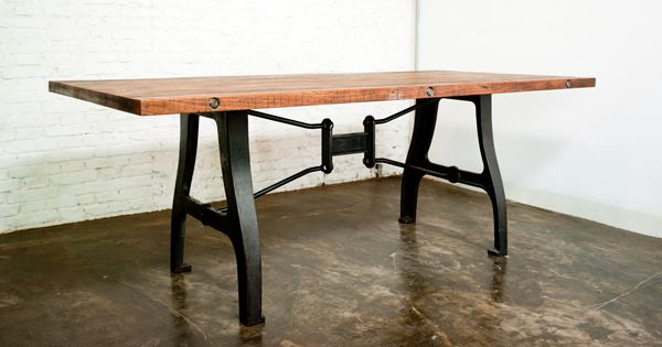 High Quality A Leg Dining Table; Reclaimed Joined Timber From Local Markets, Hand Cast