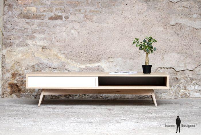 table basse rectangle bois style scandinave fabriqu e en france furniture design table. Black Bedroom Furniture Sets. Home Design Ideas