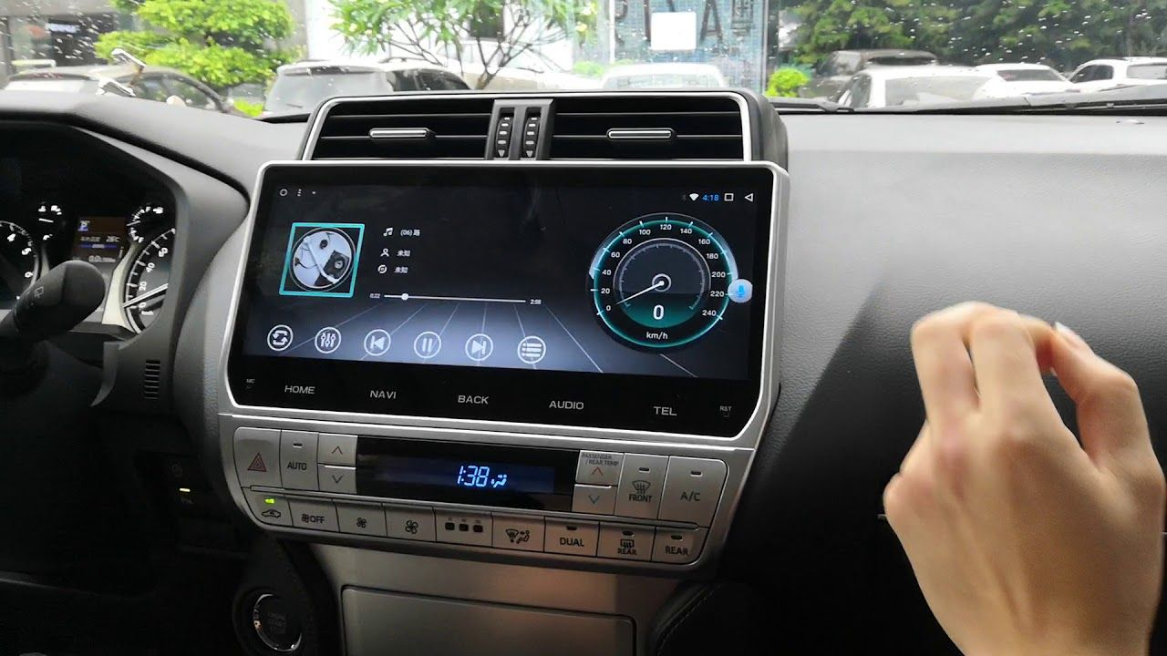 12 3 Android Car Stereo Radio Dvd Gps Navigation Head Unit Sat Nav Infotainment Toyota Prado 2018 2019 2020 Android Car Stereo Car Stereo Gps Navigation