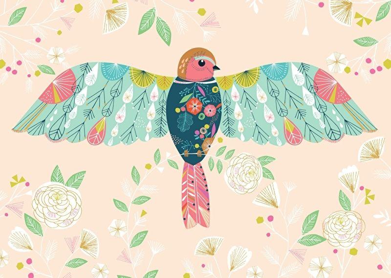 Bethan Janine 'Kaart Pretty Bird'