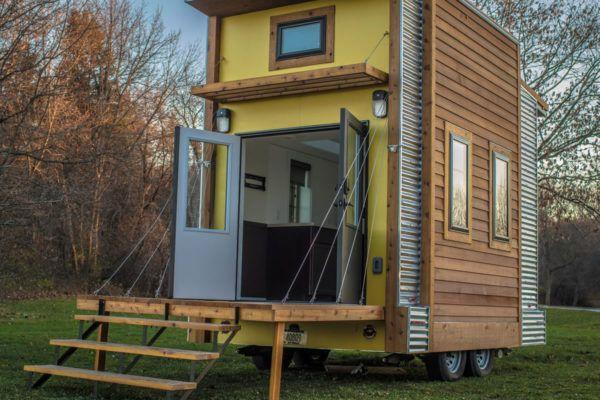 centipede tiny house auction for occupy madison tiny house village rh pinterest com