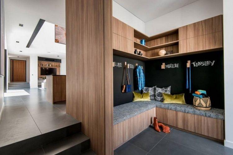 Meubles bois modernes sur fond blanc- maison du0027architecte en - peinture sur meuble bois