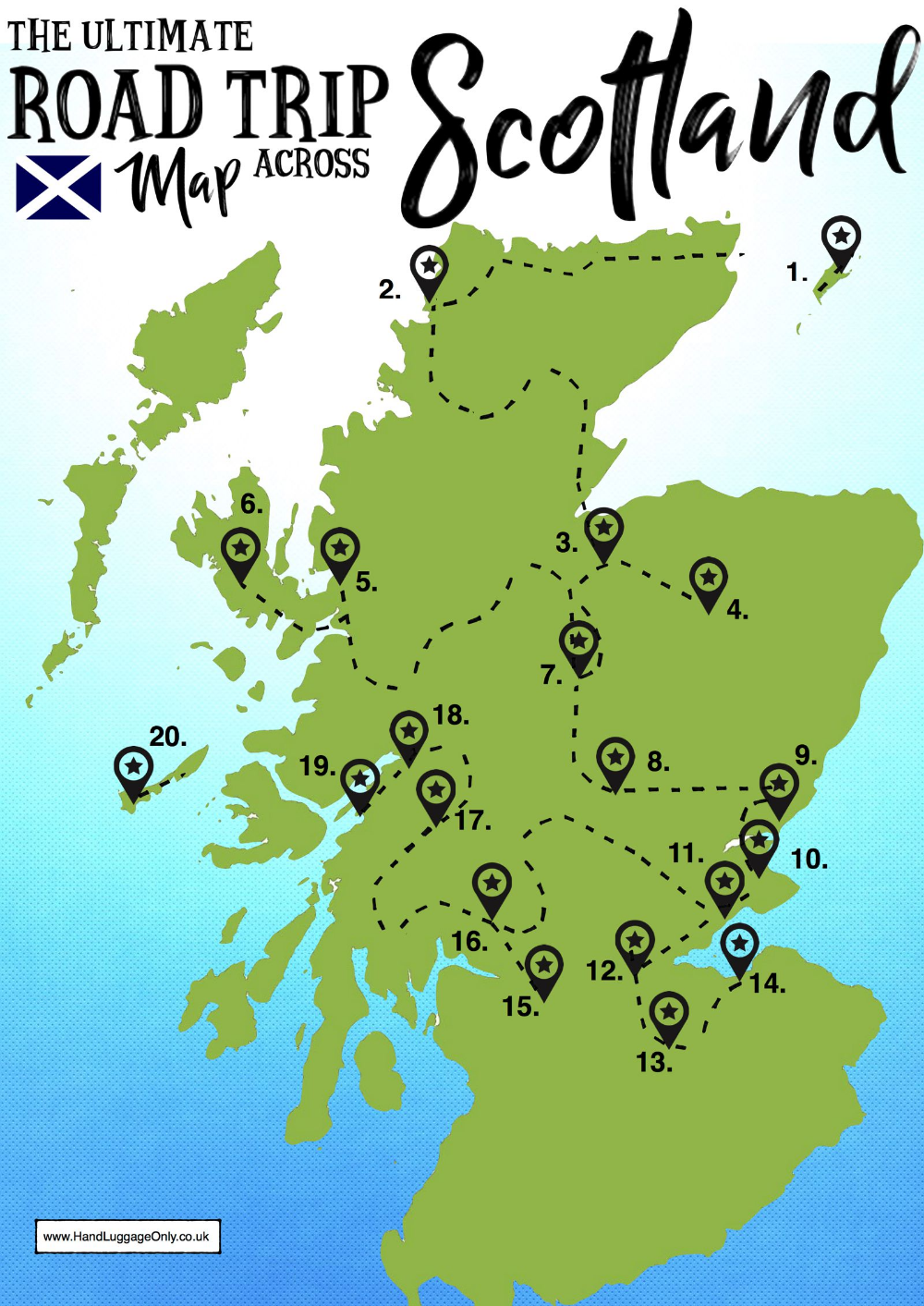 Ultimate Map Of Things To See When Visiting Scotland